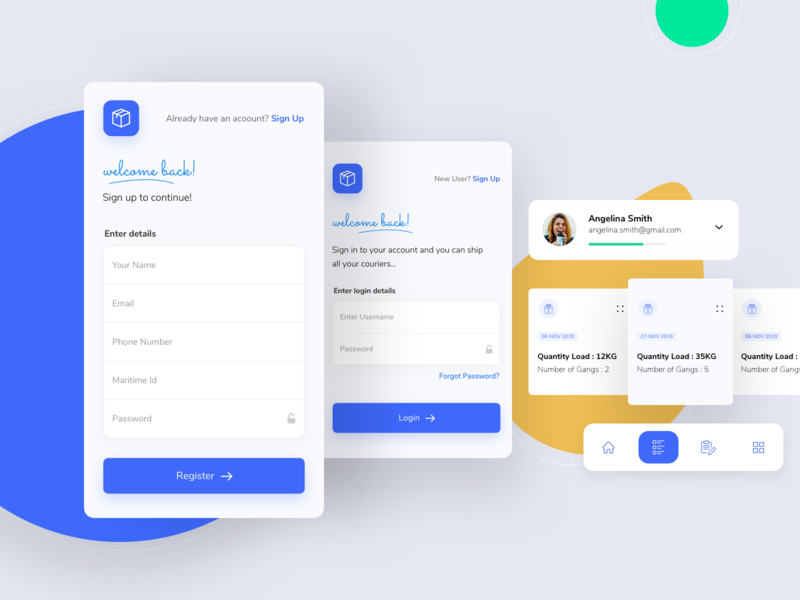 Login Signup Screen Components ui design logo design illustration graphic design app ios app design branding product design mobile app design uiux design ios app app design
