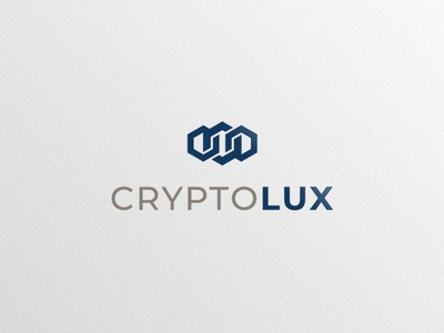 CryptoLux Logo Design vector logo icon fund finance design crypto currency branding