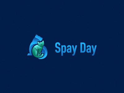 Spay Day Logo Design concept veterinarian vector spay logo illustration icon health care health dog design clinic cat illustration cat branding