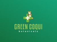 Green Coqui Botanicals Logo Design concept