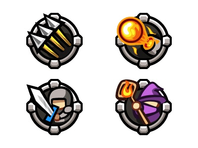 game icons game icon mage warrior command arrow cannon