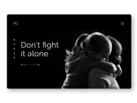 Don't fight it alone - Depression Therapy Concept Website