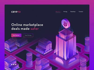 Cryptocurrency Website Modern Concept UX