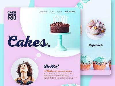 Non-Profit Backery - Web Design Concept ui  ux ux designer ux design ui  ux design web design ui cake backery non-profit charity