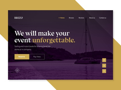 Luxury Boats Website Concept