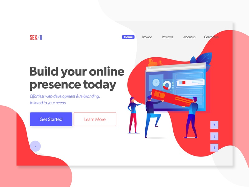 Web Design Agency Concept design app ui web design web web development group ux  ui trendy ux ux designer typography vector ux design flat modern minimalist we design branding web development concept web design