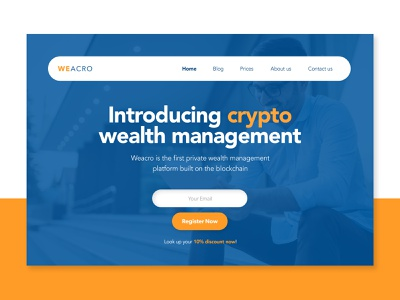 Crypto Wealth Management Company - Web Concept web ui ux web design and development web design ux design trendy startup modern minimalist flat fin tech fintech finance crypto concept clean branding