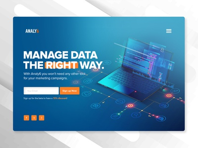 Analy6 Data Analysis Landing Page