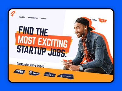 Bold Concept Trendy Design - The Most Exciting Startup Jobs exclusive trendy web design trendy design trendy logo concept bold exciting typography ui ux web web design branding ux design trendy striking modern flat