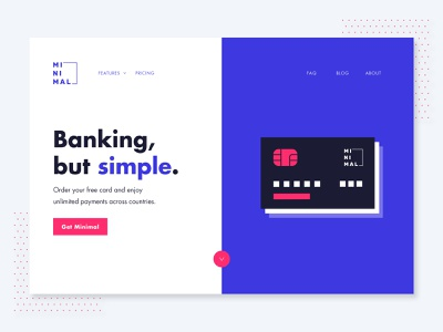 Minimal Simple Banking - Landing Page Concept web designer uxui concept design landing page design landingpage typography vector ux concept ux design minimalist web design trendy modern flat