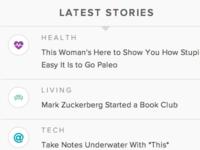 Latest Stories ticker on Brit + Co