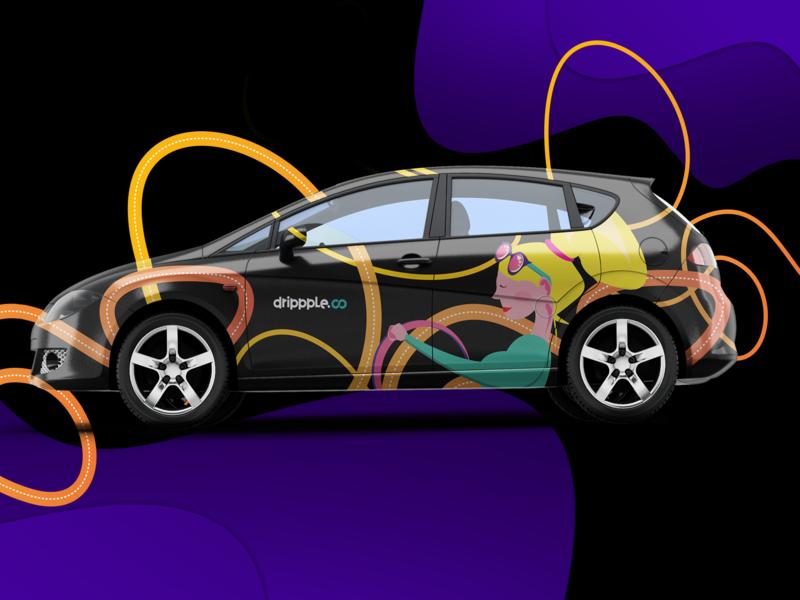 car branding branding vector illustration design