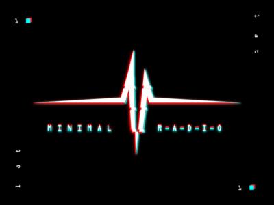 MINIMAL RADIO LOGO illustrator identity design branding vector