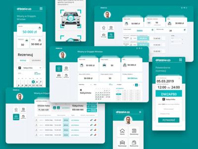 webapp Drippple adobe xd app design web  design ux