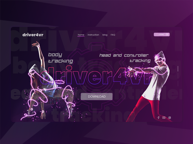 Driver4vr LP landing page web  design photoshop adobe xd design