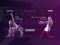 Driver4vr LP landing page web  design photoshop adobe xd design