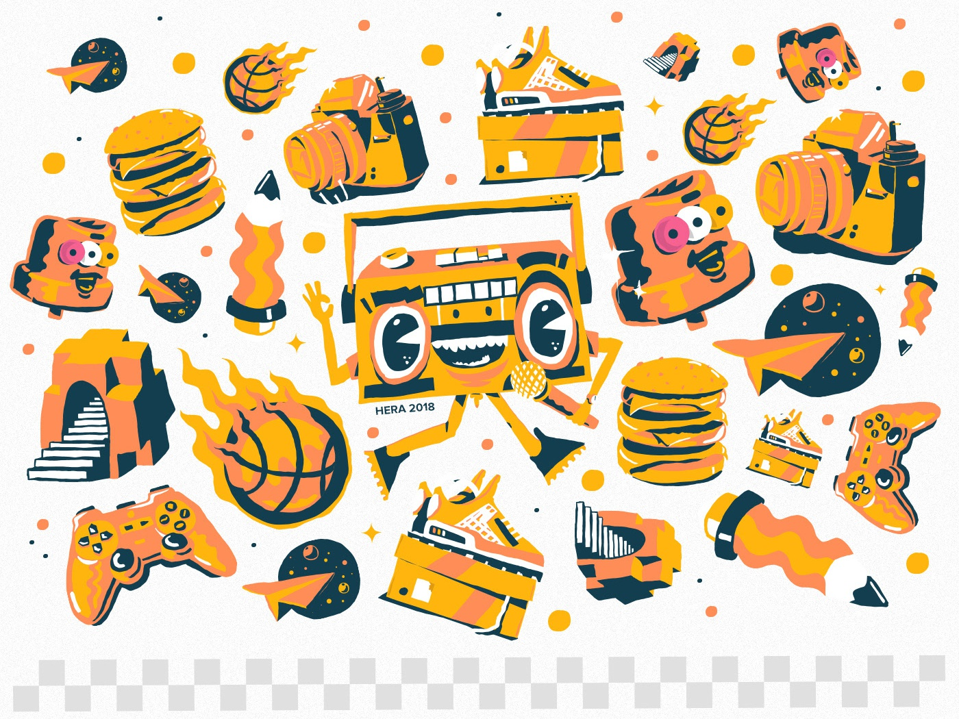 Mr Spraycan and co. icon ui drift business logo drips typography lettering branding 2018 digital-painting dribbble charactersdesign hera vector graffiti design illustration character