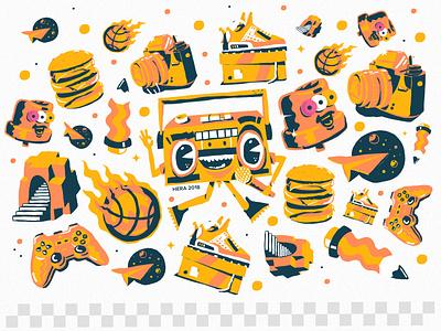 Mr Spraycan and co. icon ui drift business logo drips typography lettering branding 2018 digital-painting dribbble charactersdesign hera vector graffiti design illustration character