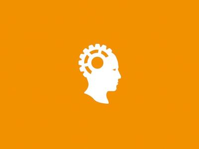 Origin of Creation Logo cog head gear creation origin