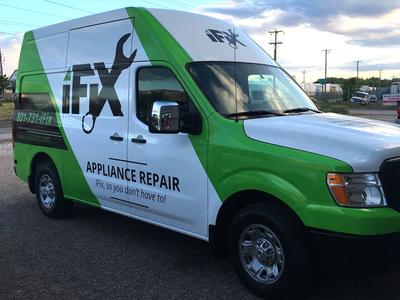 iFix Truck Wrap van wrap vehicle wrap repairman appliance repair
