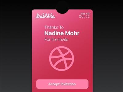 Thanks Card for Nadine Mohr