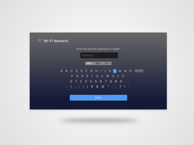 AppleTv Password Card