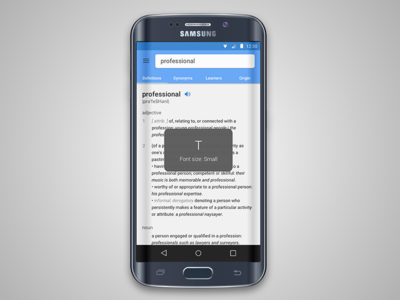 Dictionary for s6 edge