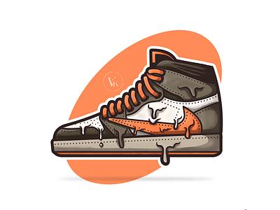 Air Jordan 1 x Travis Scott! 2020 hot fresh procreate kicks dripping doodle nike sneakerhead brown shoes cactus jack travis scott illustration sneakers