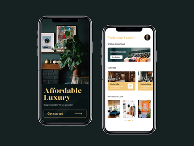 Affordable Luxury android iphone figma apartment green gold premium web mobile branding ux ui luxury