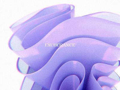 Exuberance 4 windows light waves flow purple nft futuristic fluent modelling octane blender render 3d logo design branding exuberance