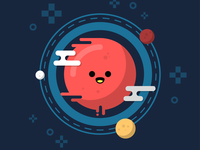 Red Planet. world liquid globe illustration icon fast planets space red planet mars