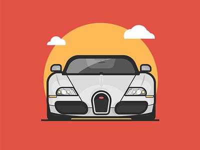 Bugatti Veyron bugatti illustration vector fast ride vintage racing veyron vehicle auto car