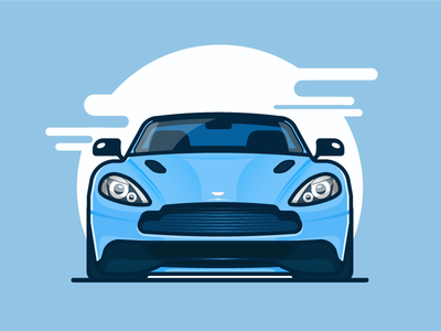 Aston Martin james bond aston martin illustration vector fast ride white racing vehicle auto car