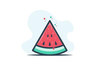 Watermelon slice minimal food hydrate water juicy juice delicious red watermelon fruit