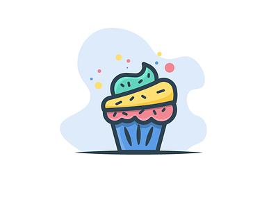 Cupcake slice minimal food hydrate water sweet juice delicious cake cupcake sugar