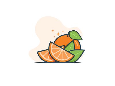 Orange slice minimal food hydrate water juicy citrus delicious vitamins orange fruit