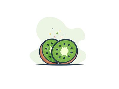 Kiwi fresh slice minimal food hydrate water juicy delicious green vitamins kiwi fruit