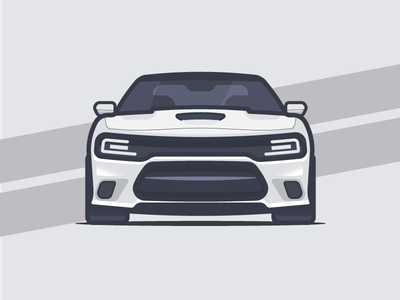 Dodge Charger vector simple small automobile sports car car illustration flat vehicle shine charger dodge