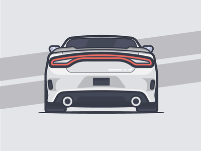 Dodge Charger dodge charger shine vehicle flat illustration car sports car automobile small simple vector