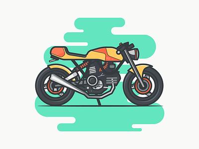 Ducati green engine sports motorcycle vehicle bike superbike racer cafe ducati