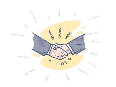 Handshake FREEBIE! flat line illustration vector minimal hands agreement illustrator ai file freebie handshake