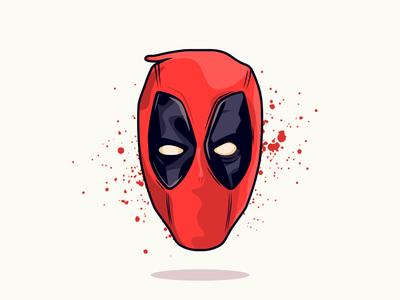 Deadpool 2! blood red suit dp badass fox marvel cable deadpool illustration
