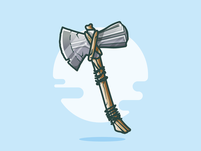 Stormbreaker! weapon vector sun movie cartoon avengers hammer stormbreaker logo illustration axe marvel design thor