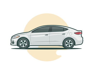 Hyundai modern logo design vector auto minimal white sport hyundai car illustration