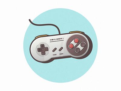 Nintendo fun blue design illustration minimal mario pixel games gamepad joypad buttons texture noise retro console game nintendo