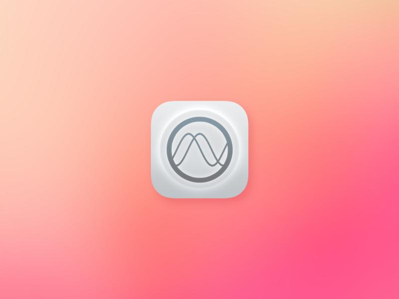 Binaural Alarm App Icon gradient alarm icon app