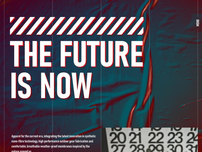 The Future Is Now - Landing Page ux ui ui  ux ux design ui design light texture gradient sportswear modern minimalist futuristic futurist future landing page landing