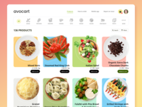 Avocart - Product List uiux ux ui product list online shopping online store uxdesign ui design ui  ux product design organic food product page avocado