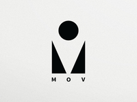 MOV logo for fashion designer brand