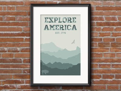 Explore Poster poster vintage outdoors america explore